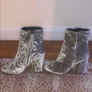 Rebecca Minkoff Silver Booties